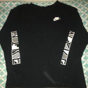 Nike Men's XXL Long Sleeve Black Tshirt
